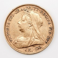 Victoria Gold Half-Sovereign, Old Head, George & the Dragon Reverse Type, 1900