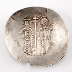 Byzantine Empire Manuel I Comnenus, Electrum Aspron Trachy, 1152-1167 AD