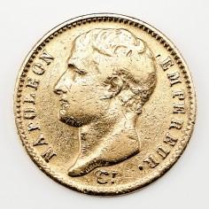 France Napoleon Bonaparte First Empire Gold 20 Francs, Paris Mint, 1807