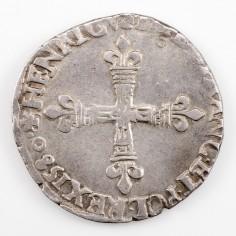 France Henri III Quart d'Ecu Croix de Face 1580