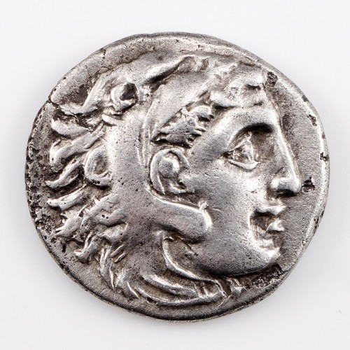 Ancient Greek Macedon Abydos, In the Name and Types of Alexander The Great Silver Drachm, 310-301 BC