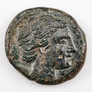 Ancient Greek, Sicily, Syracuse, Agathokles, Artemis Copper Litra, 306-289 BC