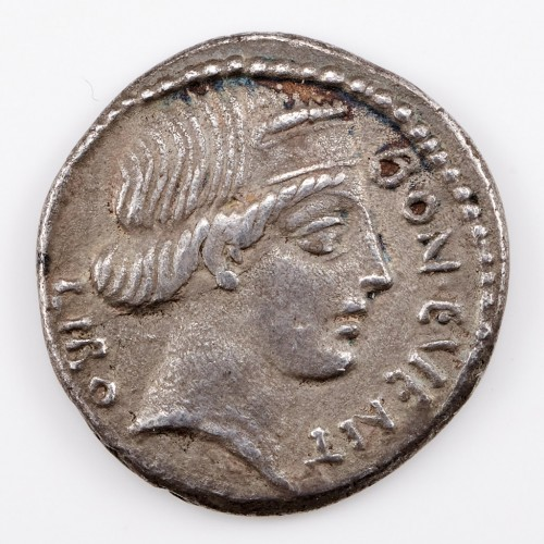 Roman Republic L Scribonius Libo, Silver Denarius, 62BC