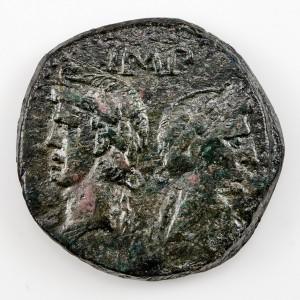 Roman Empire Augustus and Agrippa, As, Nemausus, AD10-14