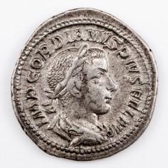 Emperor Gordian III, Silver Denarius, Diana Lucifera, Rome AD 241-3