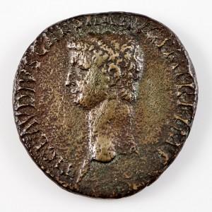 Emperor Claudius, Brass Dupondius, Ceres Reverse, AD41-50