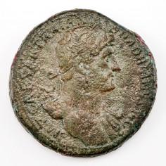 Emperor Hadrian Brass Sestertius, Jupiter Reverse, AD 119-120