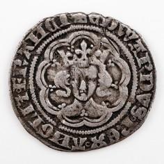 Edward III Silver Halfgroat Series C Pre-Treaty 1351-1352