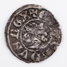 Edward III Silver Halfpenny, 3rd Florin Coinage, 1344-1351