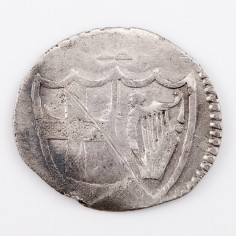 Commonwealth Oliver Cromwell Silver Halfgroat, 1649-1660