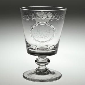Engraved Bucket Bowl Rummer c1835