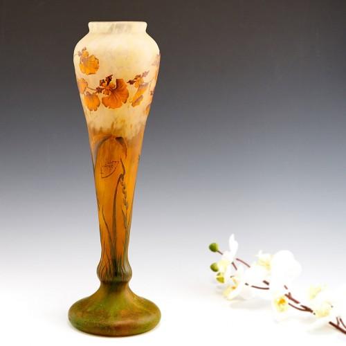 Very Tall Daum Nancy Cameo Vase c1910