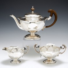 Sterling Silver Three Piece Tea Set Sheffield 1916