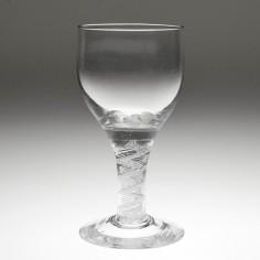 An 18th Century Opaque Twist Wine Glass