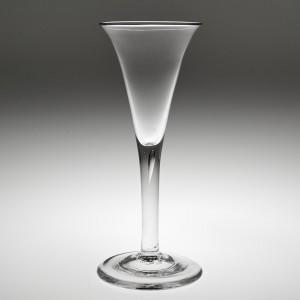 An Elegant Gorgian Plain Stem Wine Glass c1800