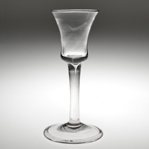 Georgian Wine Glass With Waisted Bucket Bowl
