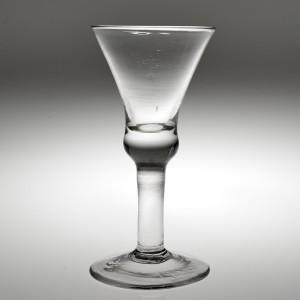 A Large Plain Stemmed 18th Century Wine Glass