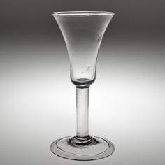 A Georgian Plain Stem Wine Glass c1745