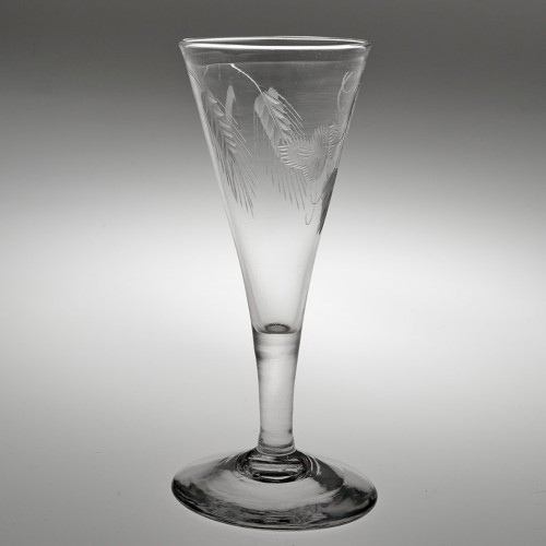 A Plain Stem Georgian Ale Glass c1780