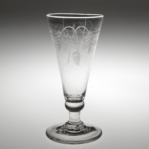 An Engraved 18th Century Ale Glass