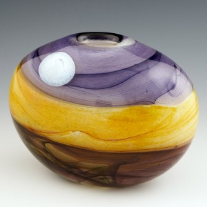An Oval 'Harvest Moon' Vase by Siddy Langley