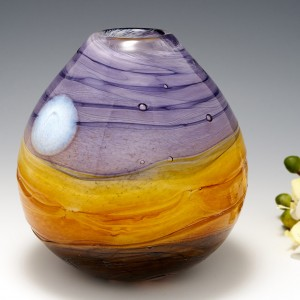 An Egg-shaped 'Harvest Moon' Vase by Siddy Langley