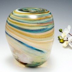 A large Triform Storm Clouds Vase By Siddy Langley