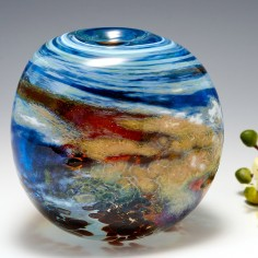 A Medium Sized Triform Storm Clouds Vase By Siddy Langley