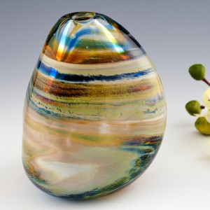 A Small Triform Storm Clouds Vase By Siddy Langley
