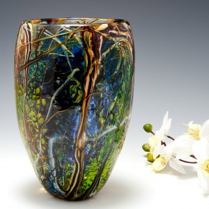 A Siddy Langley Rain Forest  Vase