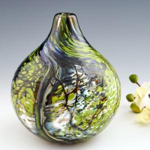 A Siddy Langley Round 'Rainforest' Vase