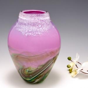 A Rosy Landscape Vase By Siddy Langley