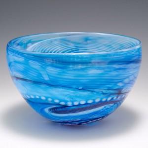 A Blue Journey Bowl by Siddy Langley