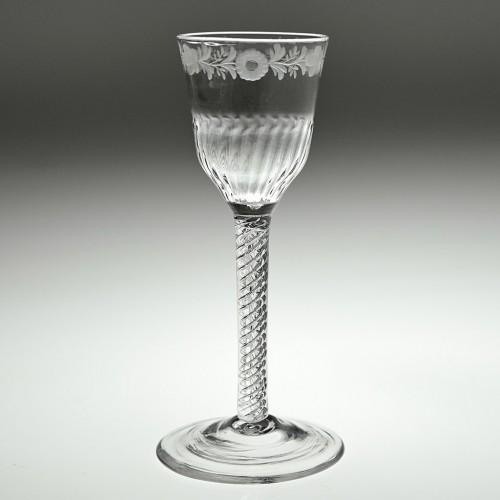 Double Series Georgian Air Twist Wine Glass c1750
