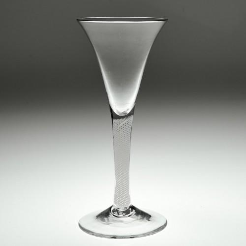 Georgian Multi Series Opaque Twist Wine Glass c1760