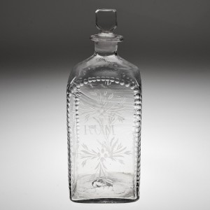 An Engraved Rum Box Decanter c1800