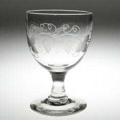 Engraved Victorian Glass Rummer c1870