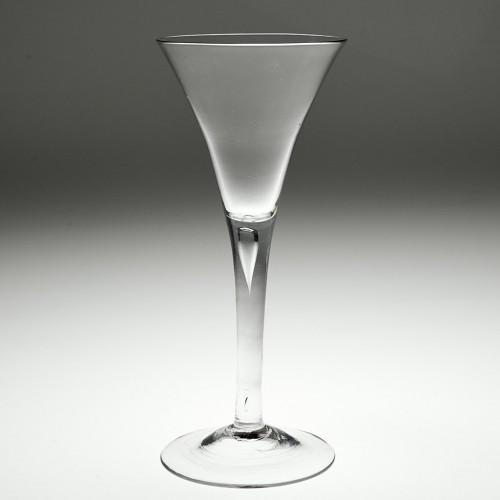 Very Tall Elegant Georgian Plain Stem Wine Glass c1750
