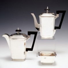 A Deco Sterling Silver Three Piece Coffee Set Sheffield 1937