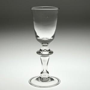 A Hollow Stem Balustroid Wine Glass c1770