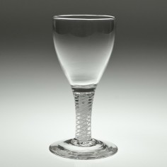 Georgian Double Series Opaque Twist Short Wine Glass c1800