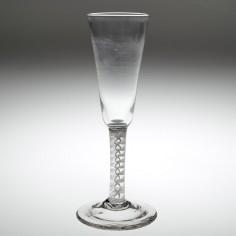 An Opaque Twist Stem Ale Glass c1760