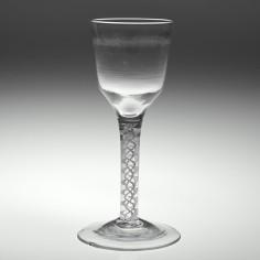 Opaque Twist Wine Glass c1760
