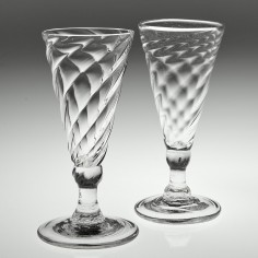 A Wrythen Moulded and A Somerset Moulded Ale Glass c1770