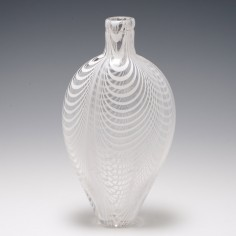 19th Century Nailsea Glass Flask c1840