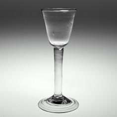 An 18th Century Plain Stem Wine Glass c1750