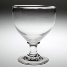 Large Capstan Stem Victorian Glass Rummer c1860
