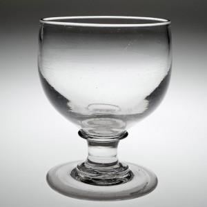 A Heavyweight Deceptive Victorian Glass Rummer c1860