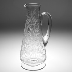 A Very Finely Engraved Glass Jug c1890