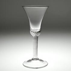 An Air Twist Stem Goblet c1750